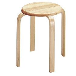 木製スツールナチュラル6脚セット
