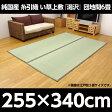 純国産 糸引織 い草上敷 『湯沢』 団地間6畳(約255×340cm)【代引不可】
