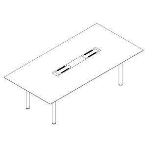 Garage fantoni ME ミーティングテーブル 53-4W61 白/白 【代引不可】:ドラッグスーパー alude