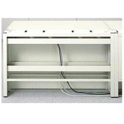 ライオン事務器PC補助スタンドシェルフ本体メディア・ラインシェルフW1000×D194×H700mmライトグレーML-S100737-73