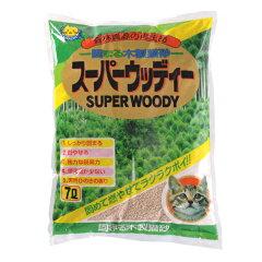 おひとり様3個まで猫砂 固まる木製猫砂 スーパーウッディー7L