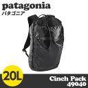 Patagonia パタゴニア 49040 ライトウェイト ブラックホールシンチパック 20L ブラック Lightweight Black Hole Cinch Pack