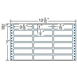 ラベルシールMX12Uタックシール(連続ラベル)レギュラータイプ500折×2