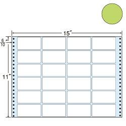 ラベルシール東洋印刷MT15TGタックシール(連続ラベル)カラータイプグリーン500折