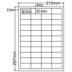 ラベルシールLDW44CEページプリンタラベル500(100×5)シート