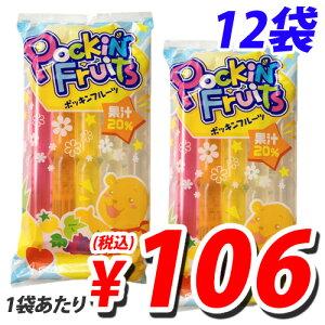 【毎日全品ポイント5倍】マルゴ ポッキンフルーツ果汁20% 10本入×12袋