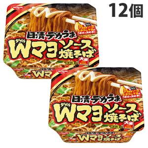 【賞味期限:19.09.06】 日清食品 日清デカうま Wマヨソース焼そば 153g×12個