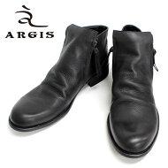 ARGISアルジス*12112(BLACK:ブラック)本革革靴メンズカジュアルサイドジップブーツジッパーブーツ黒色=送料無料=【日本製】【RCP】10P04Aug13