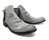 ARGISアルジス12112(GREY:パープルスエード)サイドジップブーツ本革革靴灰色メンズ=送料無料=【日本製】【RCP】10P02Aug14【マラソン201408_送料込み】