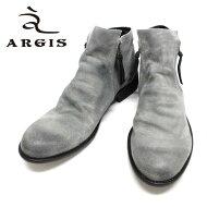 ARGISアルジス12112(GREY:パープルスエード)サイドジップブーツ本革革靴灰色メンズ=送料・ウ料=【日本製】【RCP】10P02Aug14【マラソン201408_送料込み】