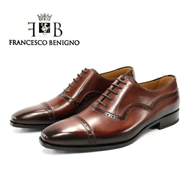 メンズ靴, ビジネスシューズ FRANCESCO BENIGNO 3463 COGNAC
