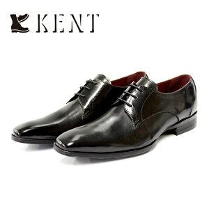 【SALE】KENT ケント1918 ビジネスシューズ 本革 メンズ 外羽根 5アイレットBLACK ブラック プレーントゥ 革靴 短靴 ビジネスセメント製法 合成底 【店頭受取対応商品】