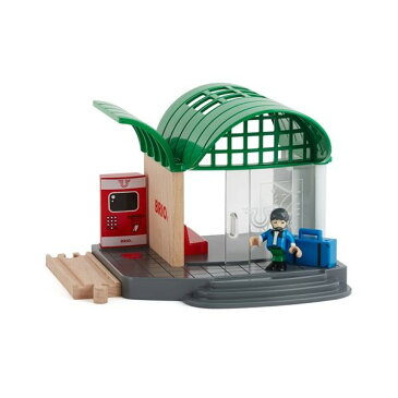 トレインステーション 男の子 2歳 3歳 4歳 5歳 レール 乗り物おもちゃ BRIO (ブリオ) 木のおもちゃ 木製玩具 幼児 子ども 木製 プレゼント ギフト 誕生日 【店頭受取対応商品】