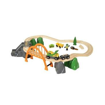 BRIO (ブリオ) ランバーレールセット 男の子 2歳 3歳 4歳 5歳 レール 乗り物おもちゃ 木のおもちゃ 木製玩具 幼児 子ども 木製 プレゼント ギフト 誕生日 クリスマスプレゼント クリスマス