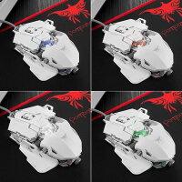 ゲーミングマウス有線接続LEDDPI速度変更プログラマブル軽量高耐久