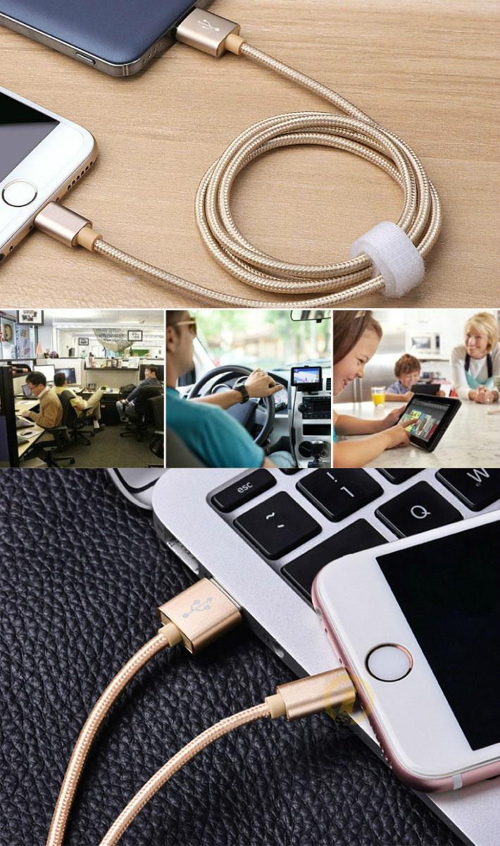 iphone用充電ケーブル ケーブル USB充電ケーブル 超高耐久 データ転送 長さ便利な2m
