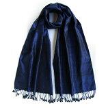 大島紬かすり織ストール(ネイビー)