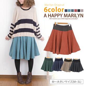 M-large size ladies skirt WestLB peach skin circular skirt original ska-g. SKIRT free M L LL 3 l 11, 13, 15, maternity wear skinny []