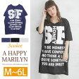 【送料無料】M〜 大きいサイズ レディース トップス■折り返し袖 半袖 BIGTシャツ■トップス Tシャツ tシャツ M L LL 3L 4L 5L 6L 11号 13号 15号 17号 19号 21号 [9561min] OMMTO