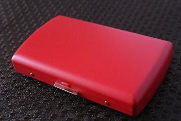 【PEARL】ブランドシガレットケース iQOS (アイコス)ヒートスティック専用 20本 マットレッド 赤 / アイコスケース 人気 たばこケース おしゃれな艶消し赤 レディース メンズ 日本製 IQOS ケース