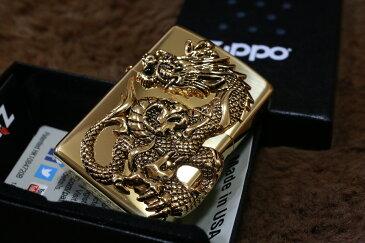 【限定ZIPPO】 ジッポ 限定 ドラゴンメタル ゴールド 龍 竜 金 限定モデル 人気 プレゼント おしゃれ 送料無料 開運ジッポ レア