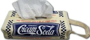 雑貨通販 (クリームソーダ など)クリームソーダ ティッシュカバー ロゴ 新品
