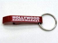 ハリウッドランチマーケットオープナーキーホルダー赤新品
