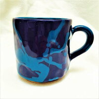 マグカップ チュニジアより直送 カラフル陶器 おうちごはん ポールクレー風マグカップ ハネンオリジナル コーヒータイム サパS