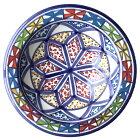 テンション上がる風車 北アフリカチュニジアの絵付陶器ミニテプシ14cm 究極のカーブ Tepsi14-24