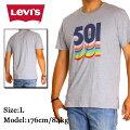LEVI'S/リーバイス501Tシャツ【グレーxレインボー】〔アメージング通販服〕半袖メンズレディースB系ストリート系ヒップホップダンス衣装ブランドファッションAMAZINGアメージング