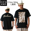 RICHEND/リッチエンドTシャツ【LV】ブラックxベージュxブラウン