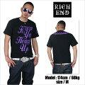 RICHEND/リッチエンドTシャツ【HEADSUP/ヘッズアップ】ブラック×パープル