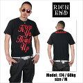 RICHEND/リッチエンドTシャツ【HEADSUP/ヘッズアップ】ブラック×レッド