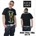 RICHEND/リッチエンドTシャツ【BADGAL/バッドギャル】ブラック×イエロー×ターコイズ