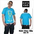 RICHEND/リッチエンドTシャツ【BADGAL/バッドギャル】ターコイズ×イエロー×ホワイト