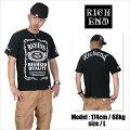 RICHEND/リッチエンドTシャツ【HYBRID/ハイブリッド】ブラック×ホワイト