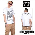 RICHEND/リッチエンドTシャツ【HYBRID/ハイブリッド】ホワイト×ブラック