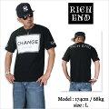 RICHEND/リッチエンドTシャツ【CHANGE/チェンジ】ブラック×ホワイト