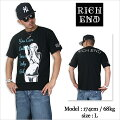 RICHEND/リッチエンドTシャツ【BABYGIRL】ブラック×ターコイズ