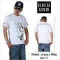 RICHEND/リッチエンドTシャツ【BABYGIRL】ホワイト×ターコイズ