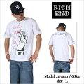 RICHEND/リッチエンドTシャツ【BABYGIRL】ホワイト×ピンク