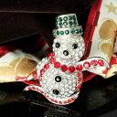 ブローチ 大きめ クリスマス 雪 雪だるま ピンブローチ かわいい スノーマン ブローチ [ 送料無料 ][ 即...