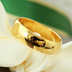 リングレディース指輪シンプルペアリングRoyalCrownロイヤルクラウンゴールド甲丸ストレートリング[送料無料][即納]