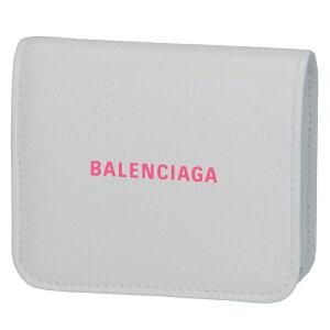 バレンシアガ BALENCIAGA 2020年春夏新作 財布 二つ折り ミニ財布 ロゴ フラップウォレット ホワイト系 594216 1IZF3 9066