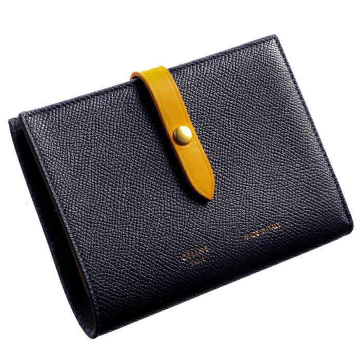 ec5a78c80180 セリーヌ 財布 ストラップ ミディアム 二つ折り財布 バイカラー STRAP バイカラー MIDNIGHT