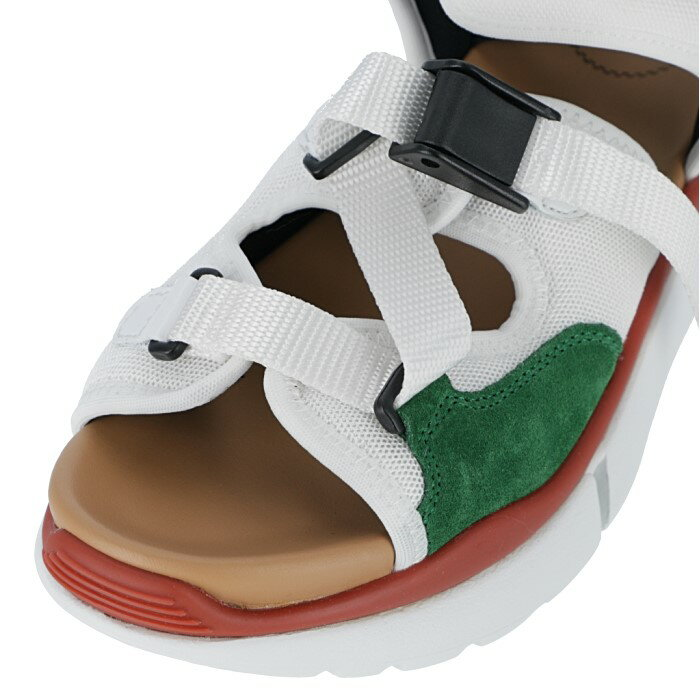 クロエ CHLOE 2019年春夏新作 Sonnie サンダルスニーカー シューズ 靴 ホワイト ジャングルグリーン 9S145 18 39V