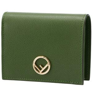 フェンディ FENDI 財布 二つ折り ミニ財布 小銭入れ付き F IS FENDI グリーン系 8M0387 A18B F0MRU