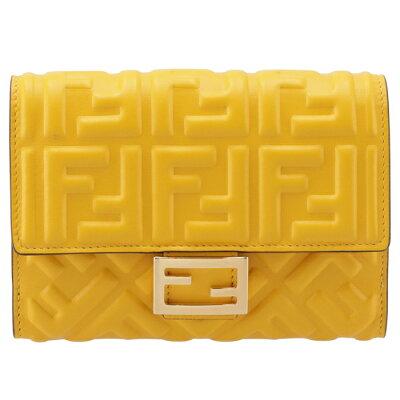 幸せと金運を呼び込む黄色い財布 FENDI 二つ折り財布