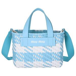Miu Miu MIU MIU 2020 Spring/Summer New Gingham Check Handbag Leather Shoulder Bag Blue 5BA077OI1 2D3O X24 [06-SS]