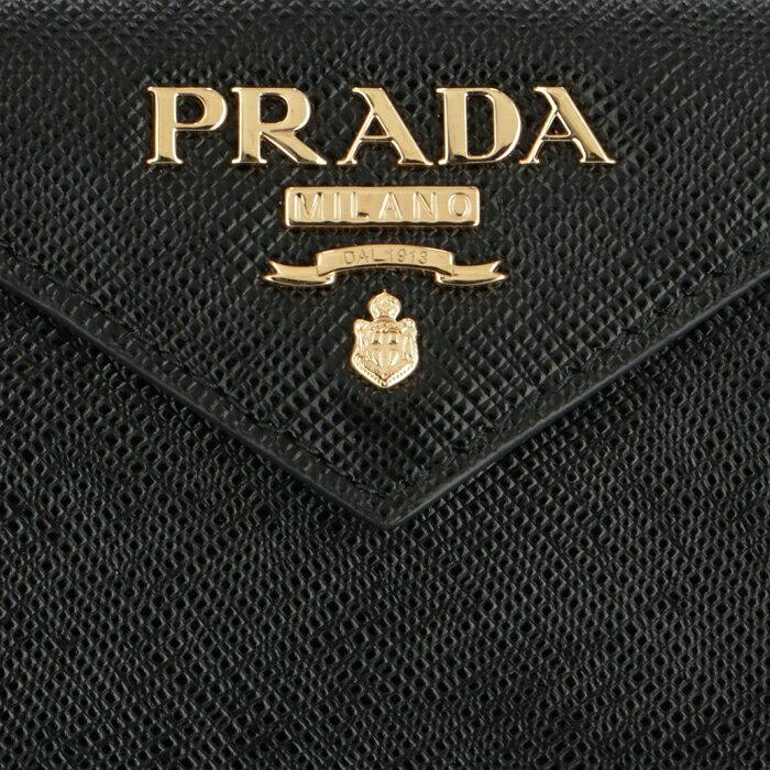 プラダ PRADA 2019年春夏新作 三つ折り財布 ミニ財布 レディース サフィアーノ ブラック 1MH021 QWA 002